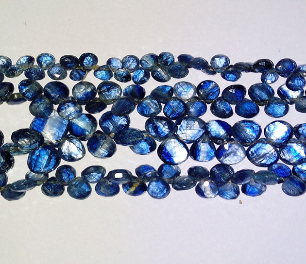Kyanite Faceted Hearts