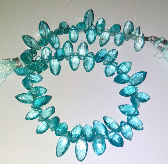 Apatite Faceted Marquise