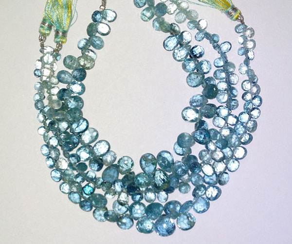Aquamarine Faceted Pears