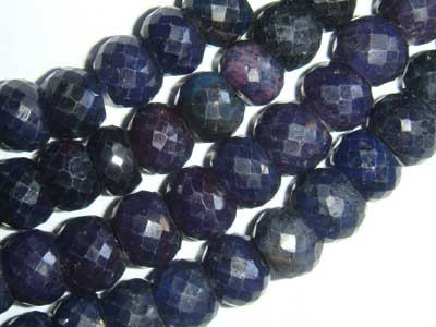 Sapphire Faceted Rondell 8-9mm