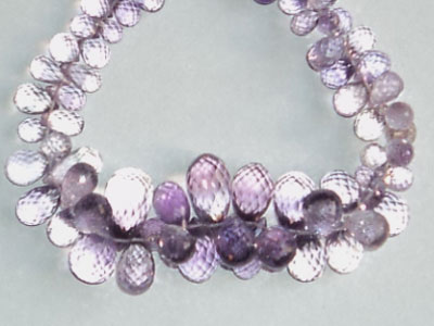 Shaded Amethyst Faceted Drops
