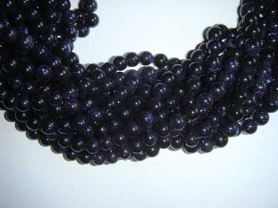 Blue Goldstone Round 3mm