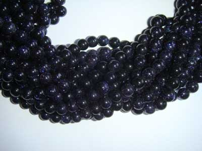 Blue Goldstone Round 4mm