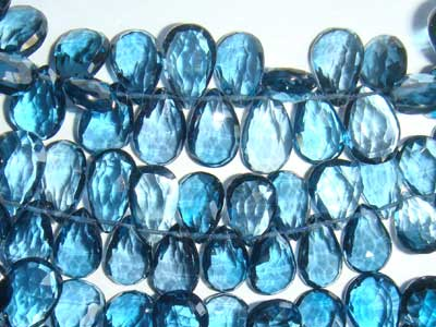 London Blue Topaz Faceted Pears
